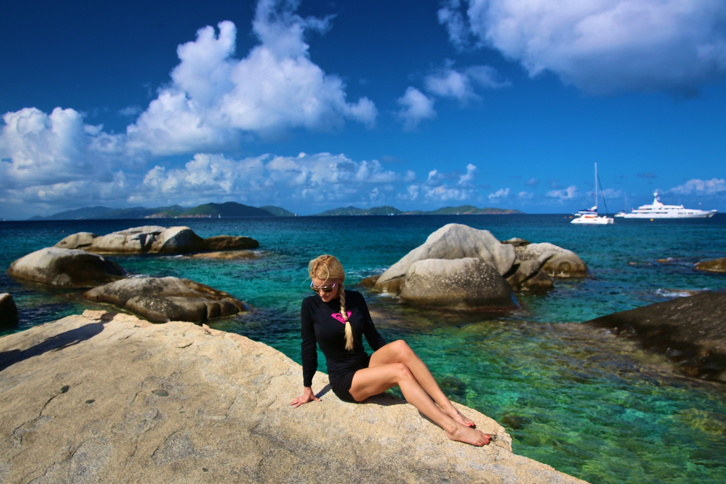 Misha at Virgin Gorda
