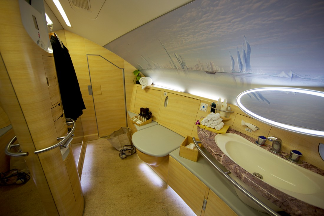 Emirates first class bathroom