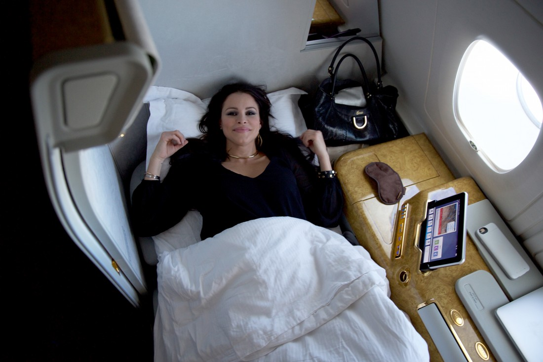 Emirates first class bed