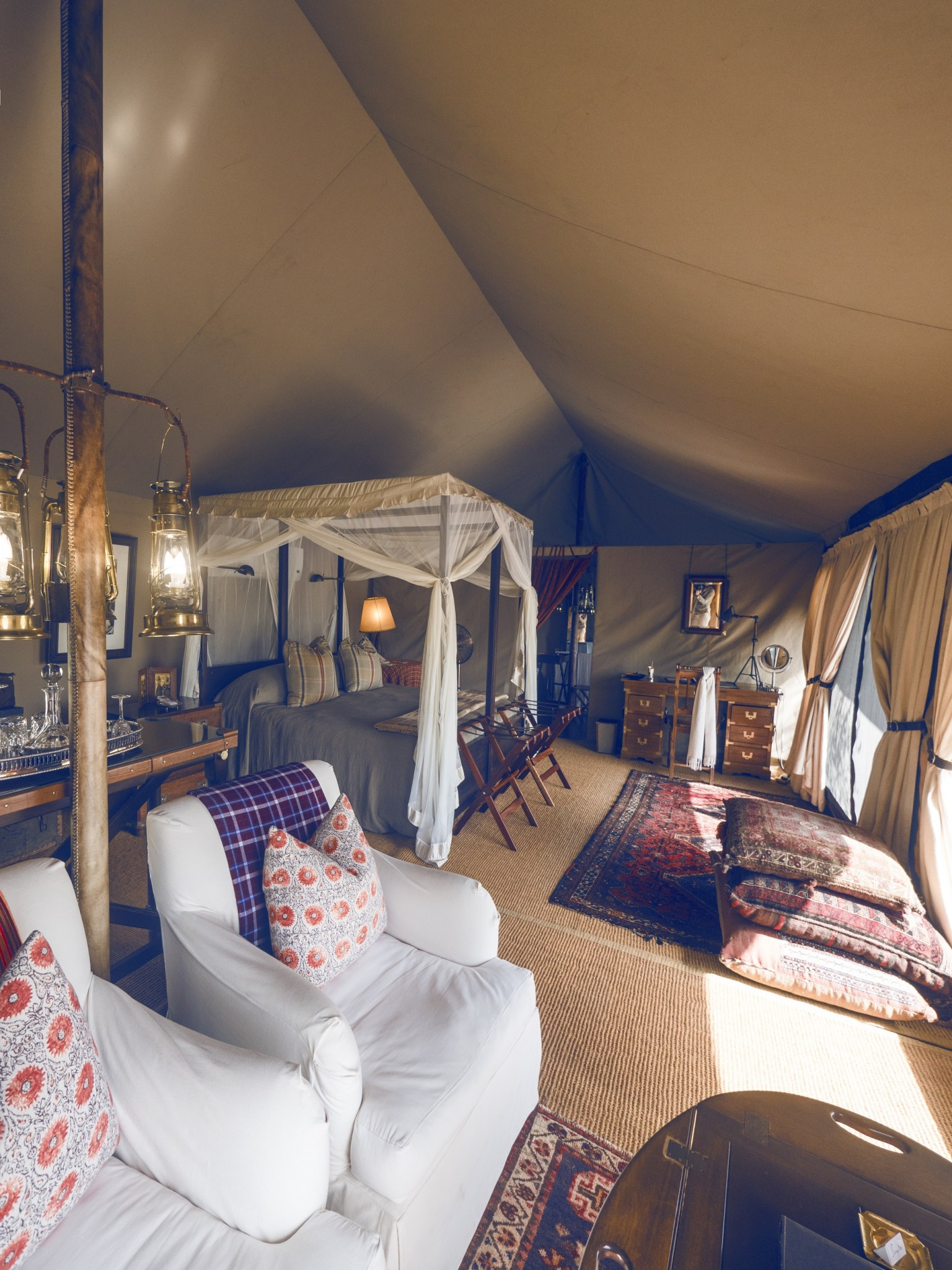 Glamping safari Singita Safari Tents